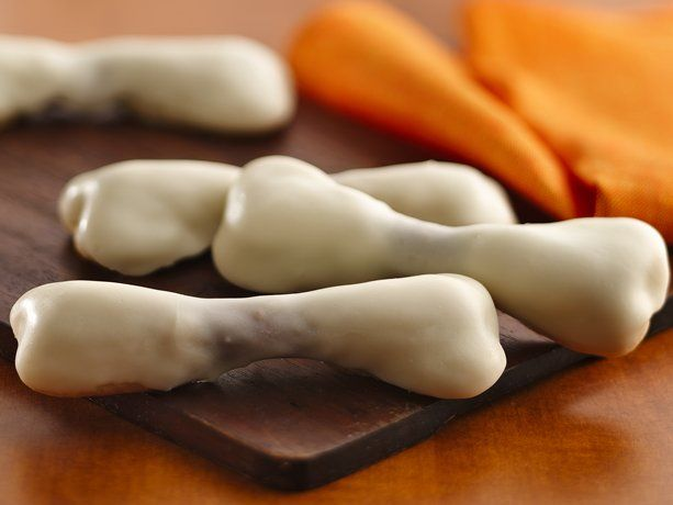 Cookie Bones - could do the same basic idea with pretzel rods, too. Heh, little finger bones.