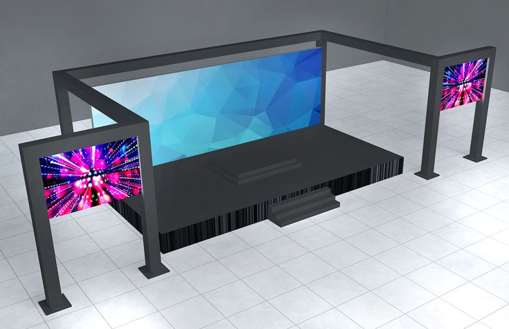 stage with led side screen