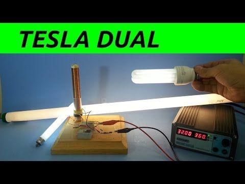 Bobina Tesla Slayer Potenciada con Doble Primario - YouTube