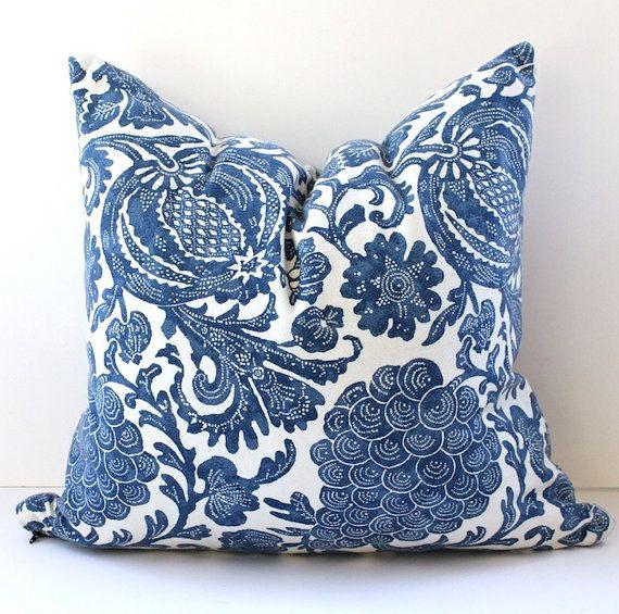 Floral Batik Decorative Designer Pillow Cover 20x20 New