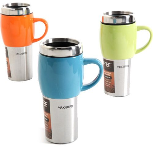 Custom Coffee Mugs 3 Travel Cups Beverage Custom Lids Set.Enjoy your favorite beverages on-the-go in style with the Custom Coffee Mugs 3 Travel Cups Beverage Custom Lids Set. These insulated travel mugs, set of 3, keep drinks hot while protecting your hands with their cool, stoneware handles.The Custom Coffee Mugs 3 Travel Cups Beverage Custom Lids Set is made from a combination of stainless steel and stoneware, with solid color finishes.
