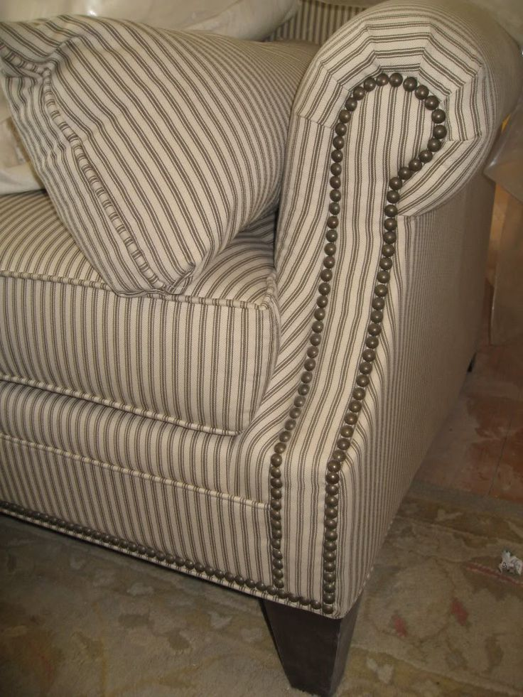 1000 Ideas About Ticking Stripe On Pinterest Armchairs Furniture Slipcovers And Ticking Fabric