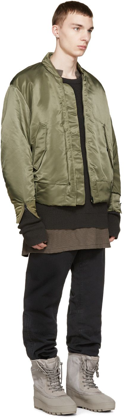 YEEZY Season 1 Green Nylon Bomber Jacket