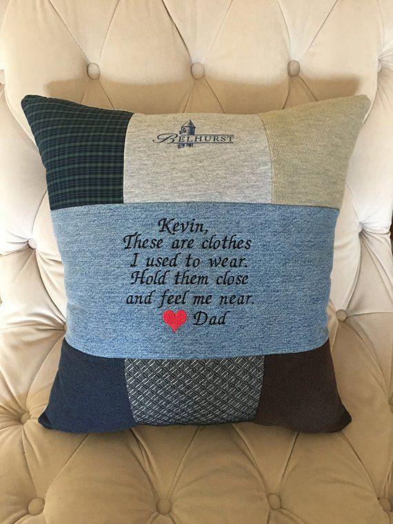 Memory Pillow, Keepsake Pillow, Quilted