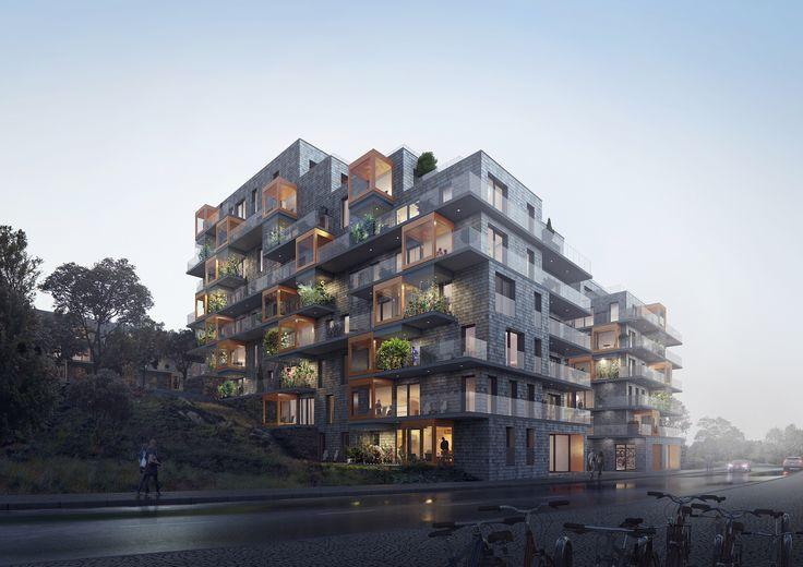 VYN – Husen ger med sin utformning och materialval ett spännande möte mellan natur och boende.