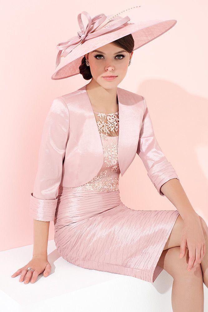 Ispirato IW936 Crinkle Pleat Dress with Bolero Jacket in ...