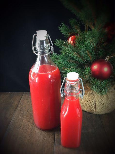 Weihnachtlicher Erbeerlimes selbst gemacht aus dem Thermomix, Winter-Edition Erbeerlimes, Spekulatius-Erdbeer-Limes