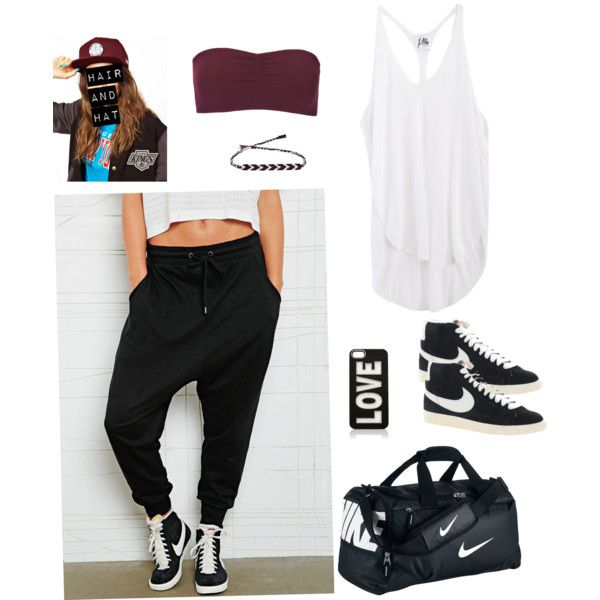 Dance practice outfit by fashion-teens-13 on Polyvore featuring moda, Mlle Mademoiselle, ONLY, Sparkle & Fade, NIKE, Vans and Forever New