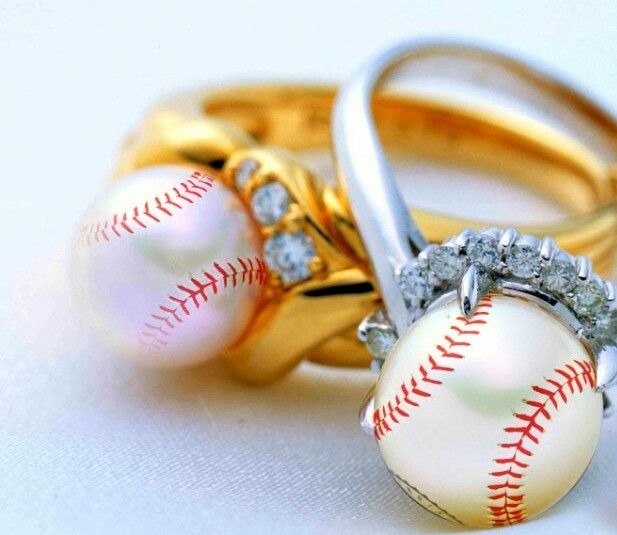 Cool baseball rings could be a softball