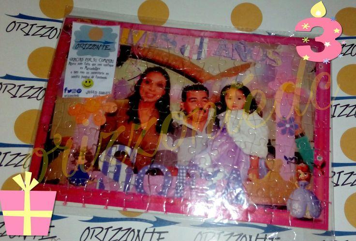 Rompecabezas con foto de recuerdo para presentación Princesa Sofia