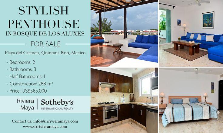 Stylish Penthouse in Bosque de los Aluxes   Playa del Carmen, Quintana Roo   Sotheby's International Realty Mexico #realestate #mexico