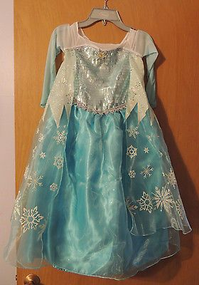 Authentic DISNEY STORE Costume ELSA from Frozen  Size 5/6