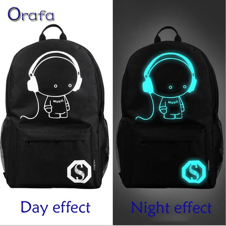 2016 New fashion nightlight casual Men's backpack Anime Luminous teenagers Men Student Cartoon School Bags travel Rucksack <3 Find similar products by clicking the VISIT button