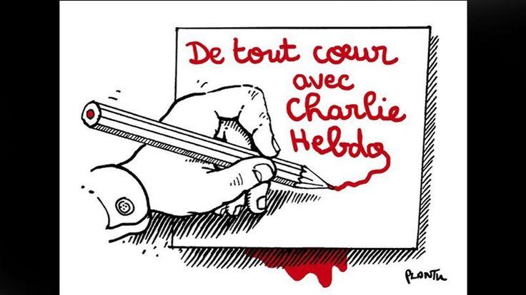 Le dessinateur Plantu, du journal Le Monde, de tout cœur avec Charlie Hebdo.