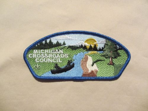 Michigan Boy Scout Michigan Crossroads Council SA 2 Blue Mylar Border CSP | eBay
