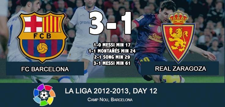 FC Barcelona 3-1 Real Zaragoza