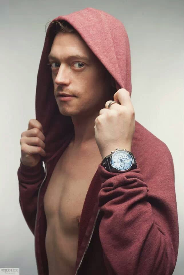 Copyright Khandie Khisses. Male model with his hoody looking all hot and dreamy. I love my job!