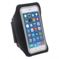 iPhone 6 6s 4.7 - Sport Running Armband Ultrathin Soft Silk Touch Phone Case - Black