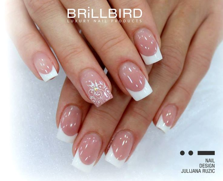 Unghii French by Julijana Ruzic. BrillBird - Luxury Nail Products www.brillbird.ro