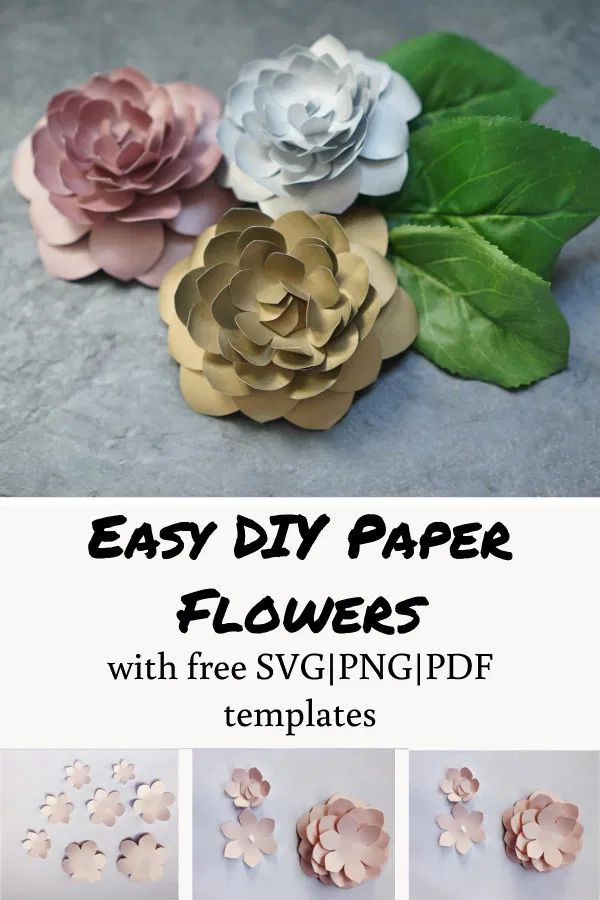 DIY Paper Camellia (with free flower template – Paper flowers