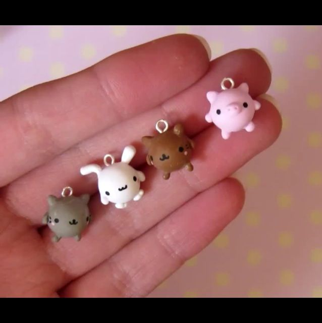 Cute polymer clay animal miniatures!