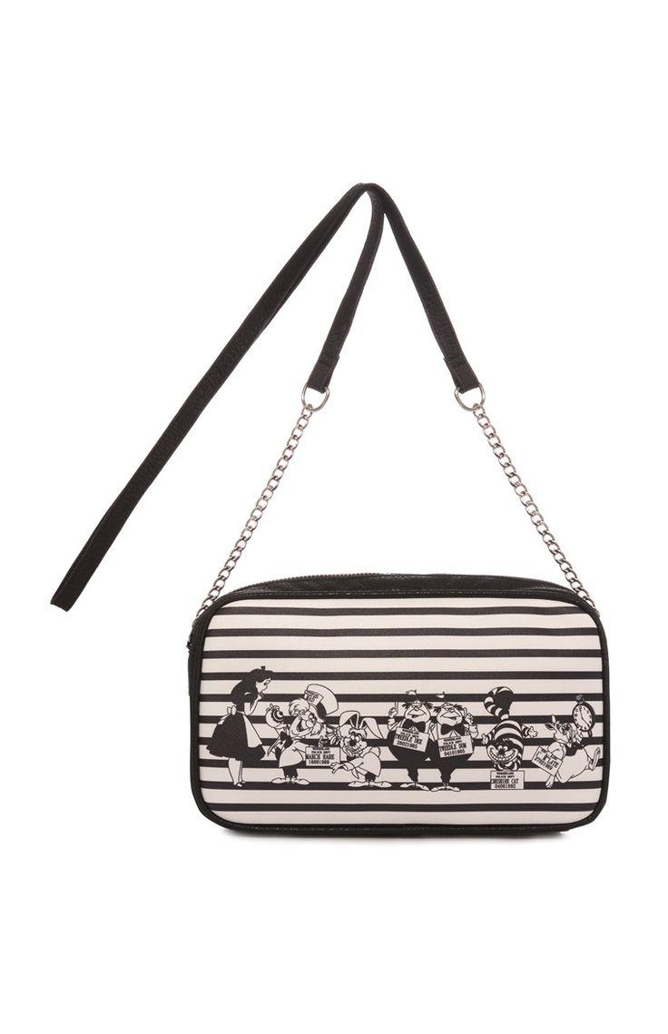 Primark Online Application - Primark black and white alice in wonderland bag