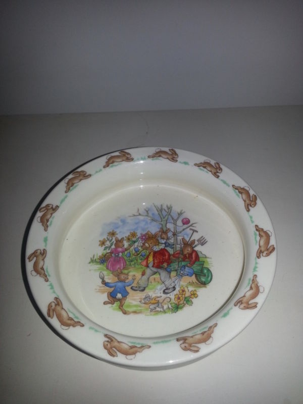 Vintage Royal Doulton Bunnykins porridge Bowl In Garden circa : bunnykins royal doulton tableware ltd 1936 - Pezcame.Com