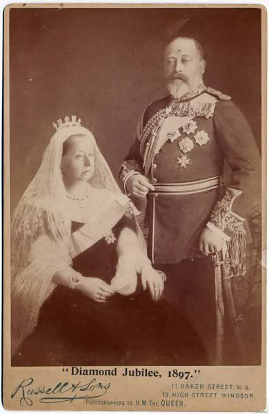 Queen Victoria and Edward VII - a commemoration of Queen Victoria's Diamond Jubilee, he followed his mother