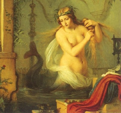 Melusine, Countess of Lusignan. According to legend Melusine was an ancestor of the Plantagenet dynasty.
