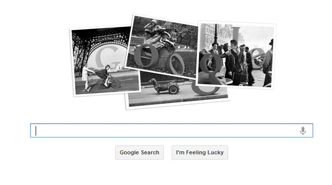 The latest Google Doodle from the kit of Google honors french photographer Robert Doisneau on his birthday. Robert Doisneau was born on 14 th April 1912. He was pioneer of street photography with Henri Cartier-Bresson.
