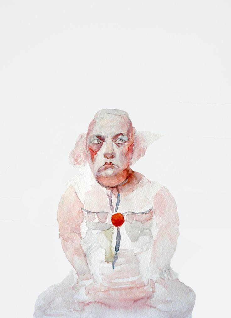 Lorene Taurerewa, watercolor