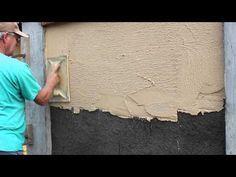 Conservatoire Dynamique des Gestes Techniques: l'écoconstruction-enduits terre - YouTube
