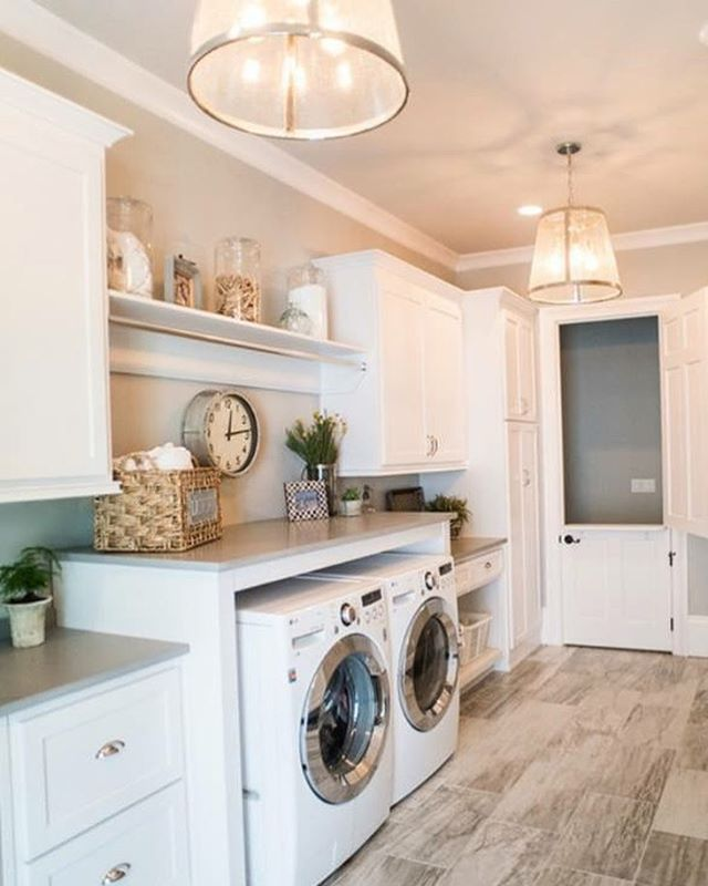 This farm house laundry room is a must-have! Look at the size of this room - we might just enjoy doing laundry in here. Might. #realtor #dfwrealtor #laundryroom #interiordesign #dfw #dallas #buying #selling #luxuryhomes #beautifulhomes #realestate #realestateagent #laundry #moving #relocating #locator #needanagent #needarealtor #referralsrewarded - posted by Jenny Kim https://www.instagram.com/jennykim.realtor - See more Luxury Real Estate photos from Local Realtors at…