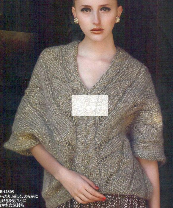Необычный пуловер спицами. Обсуждение на LiveInternet - Российский Сервис Онлайн-Дневников