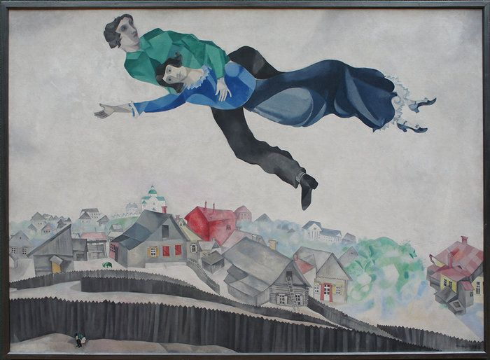 Above the Town ,Marc Chagall