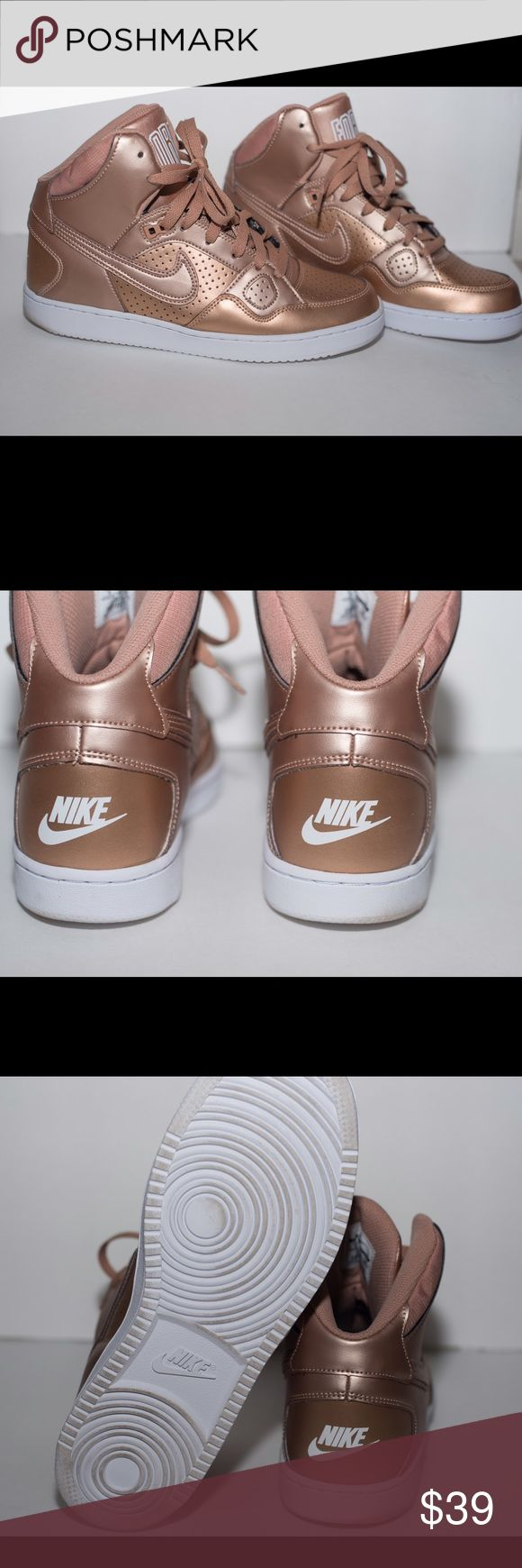 Nike Women's Son of Force Mid Beautiful bronze color Air Force 1s that will turn any outfit into a fashion statement. Nike Shoes Athletic Shoes