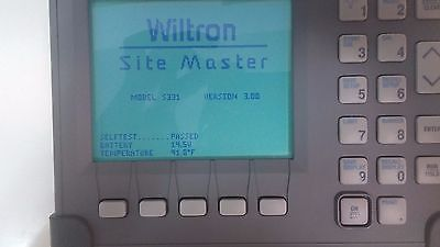 Anritsu Wiltron S331 Site Master Cable and Antenna Analyzer with open/short/Load