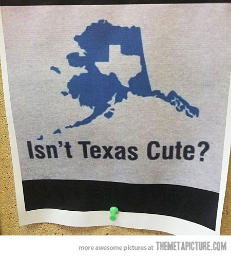 How Alaska Sees Texas…