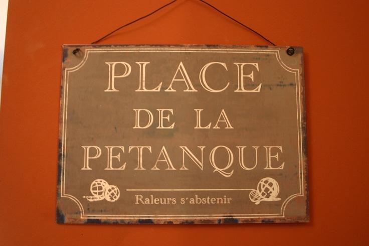Place de la Petanque - vintage hanging sign for indoor or outdoor use $20