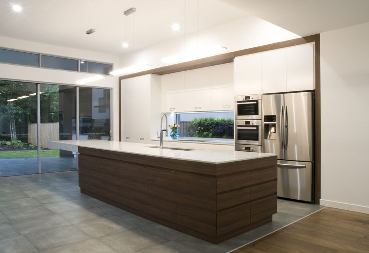 Beautiful island cabinetry in Navurban™ Gum Scrub designed and installed by Fresh Kitchens.  Find out more at  http://www.freshkitchendesigns.com/