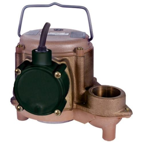 Little Giant 508257 8-CBM 4/10 HP Cast Bronze Submersible Sump Pump (Non-Automatic)