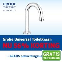 WarmteService.nl heeft vandaag een top deal: Grohe Universal toiletkraan