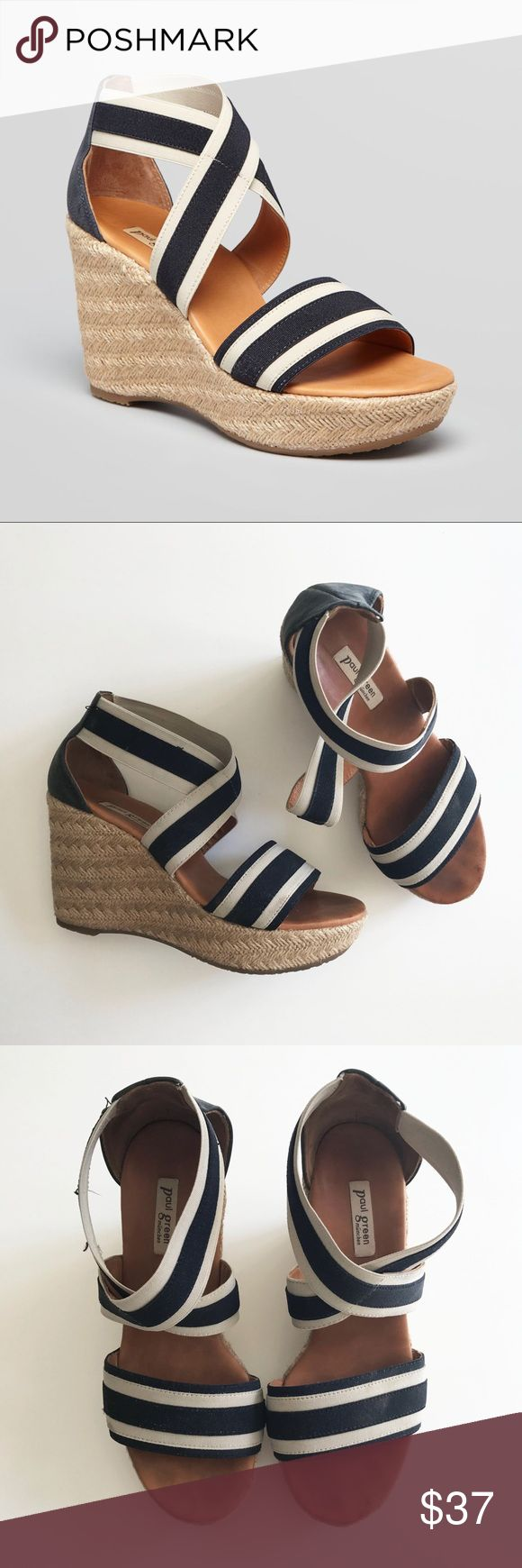 Paul Green Nautical Espadrille Wedges ATTENTION: This item is used with signs of wear (minor fraying & fading) but still in great condition! Paul Green Shoes Wedges