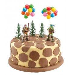 décorations tortues ninja pour gâteau d anniversaire