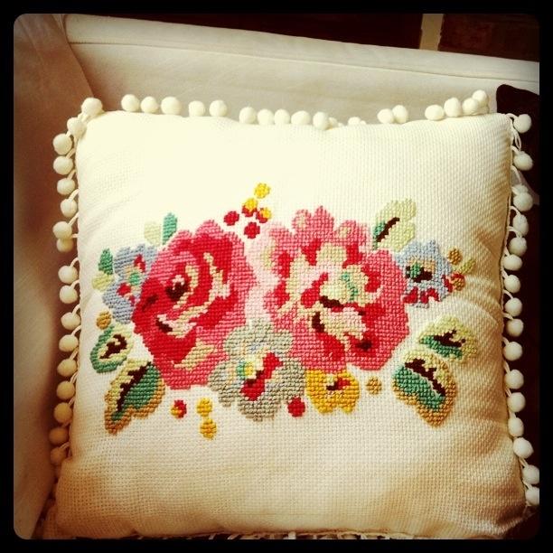 Cross stitch cushion. From cath kidston stitch book.