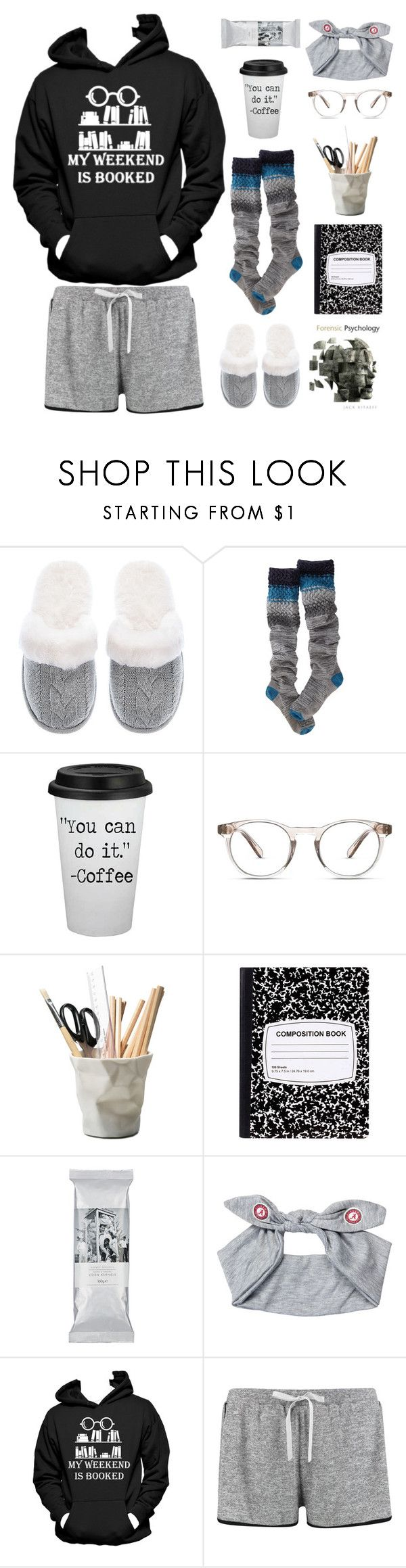 """""""Studying Time"""" by tina-kene ❤ liked on Polyvore featuring Victoria's Secret, Smartwool, Finlay & Co., ESSEY and Boohoo"""