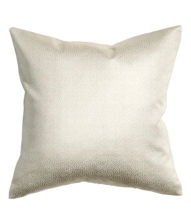 Cushion cover in jacquard-weave fabric with glittery threads. Concealed zip. Size 16 x 16 in.