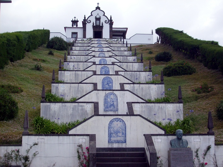 Sao Miguel, Acores I remember climbing up all those stairs