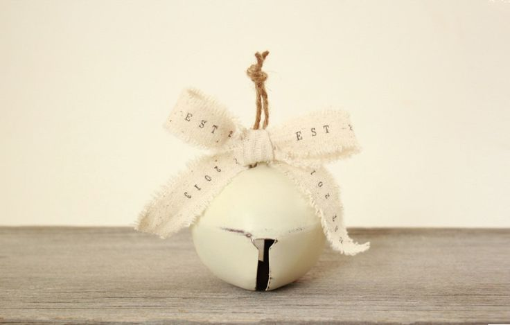 Handmade Personalized Christmas Ornaments : large jingle bell 1st Christmas ornament baby's first Christmas Ornaments gifts by TheLonelyHeart on Etsy https://www.etsy.com/listing/163519750/handmade-personalized-christmas