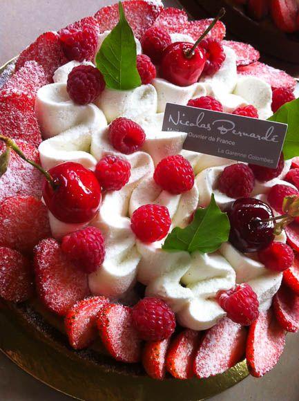 Tarte fraise et framboise